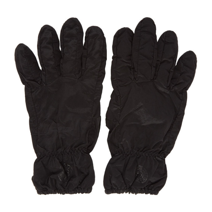 Photo: Stone Island Black Nylon Metal Gloves