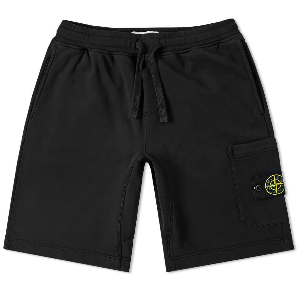 Photo: Stone Island Garment Dyed Sweat Short Black