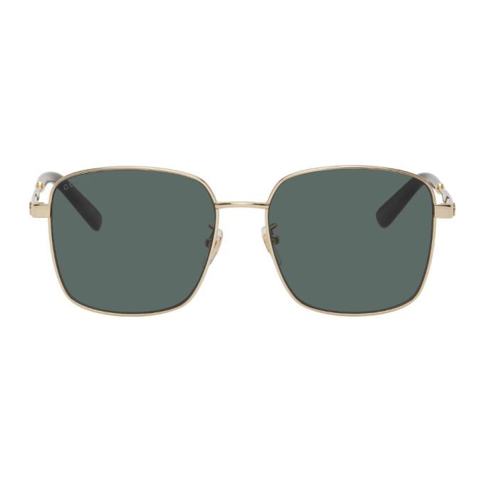 Photo: Gucci Gold GG0852SK Sunglasses