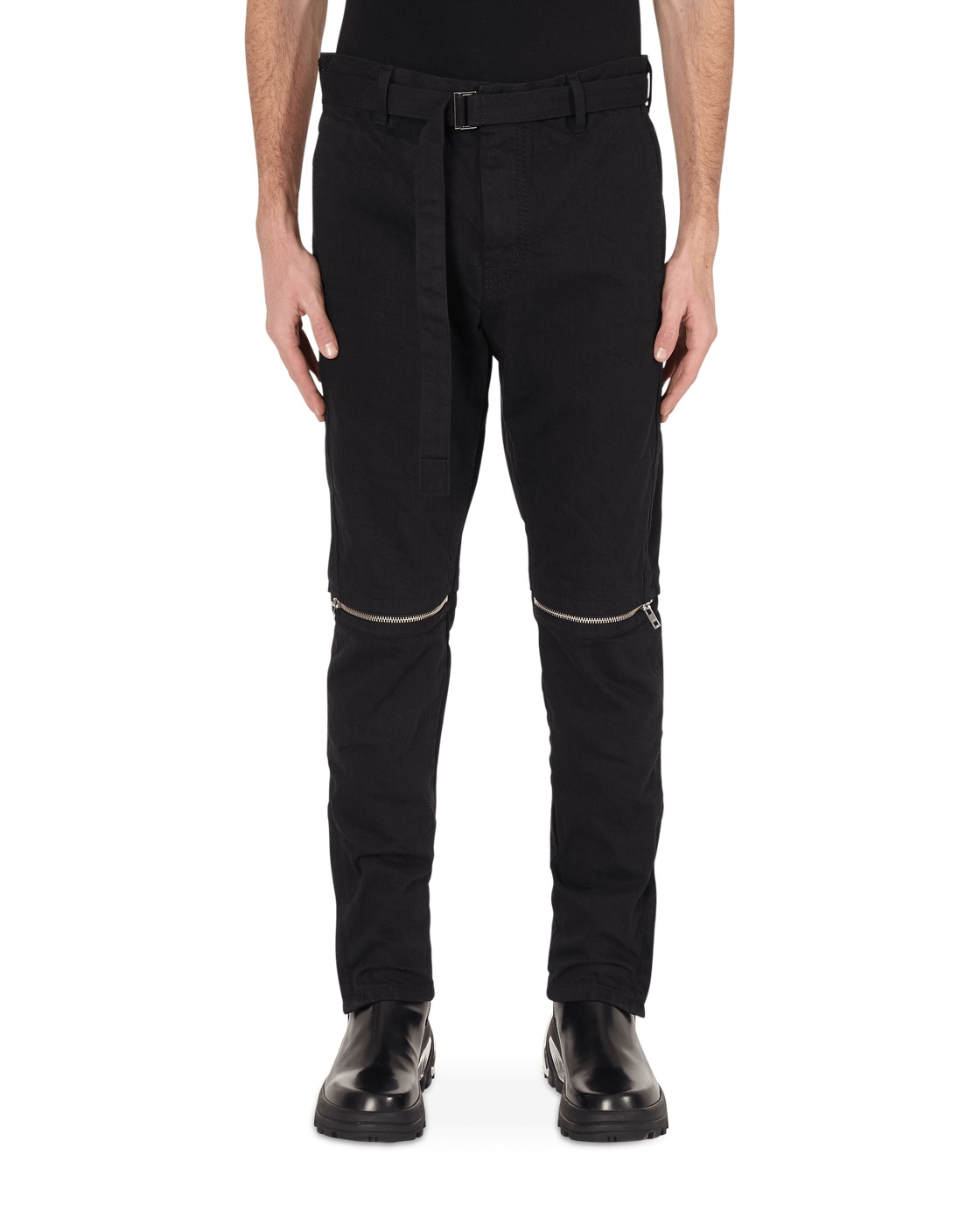 Photo: Sacai Belted Denim Pants Black