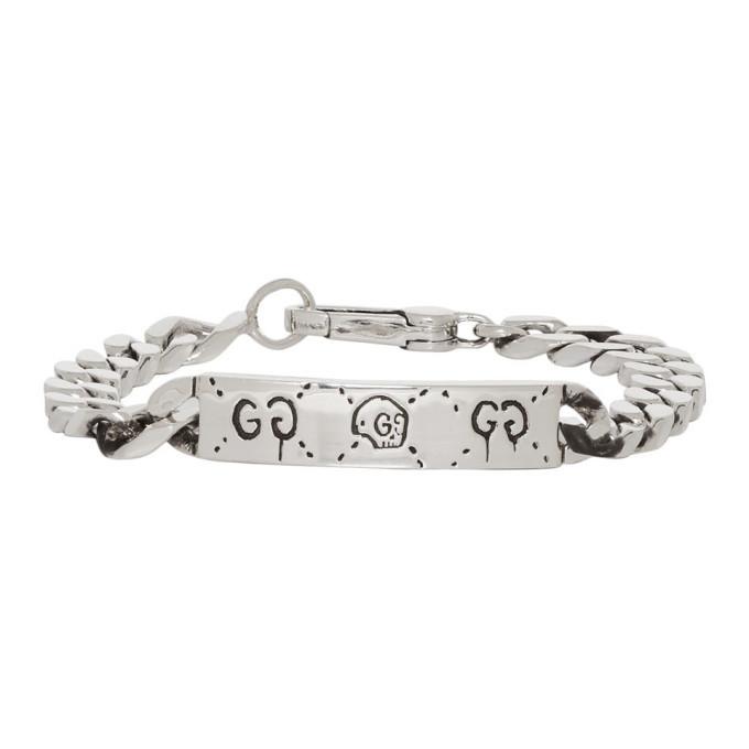 5d26ecc67 Gucci Silver Gucci Ghost Chain Bracelet Gucci