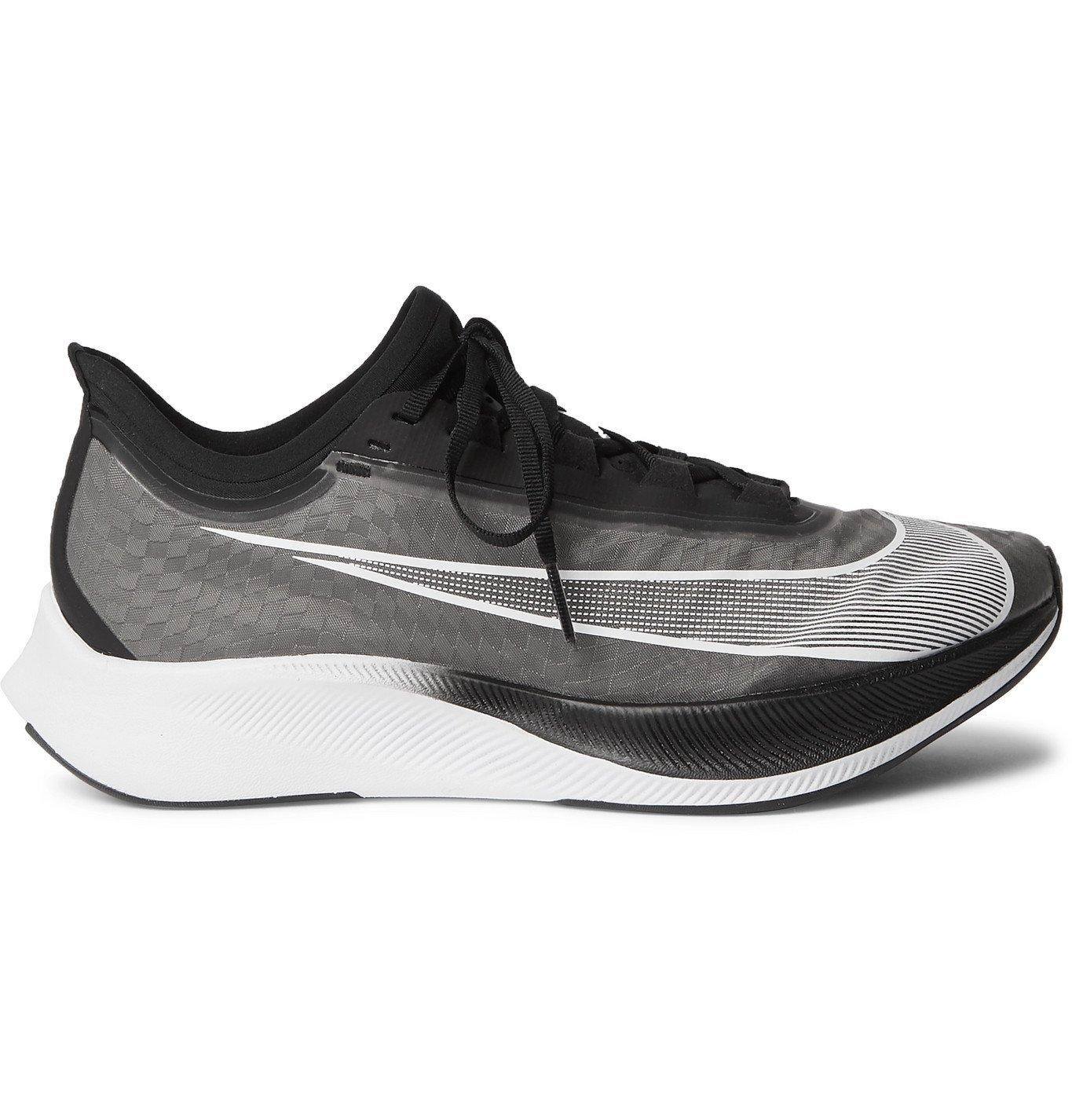 Nike Running - Zoom Fly 3 Mesh Running Sneakers - Black