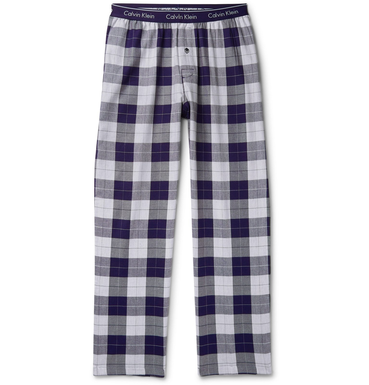 Photo: Calvin Klein Underwear - Checked Cotton-Blend Flannel Pyjama Trousers - Blue