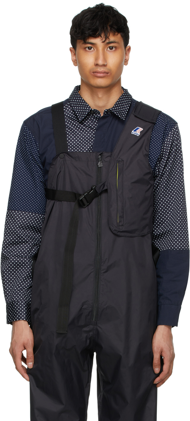 Photo: Engineered Garments Black K-Way Edition Kayden 3.0 Vest Bag