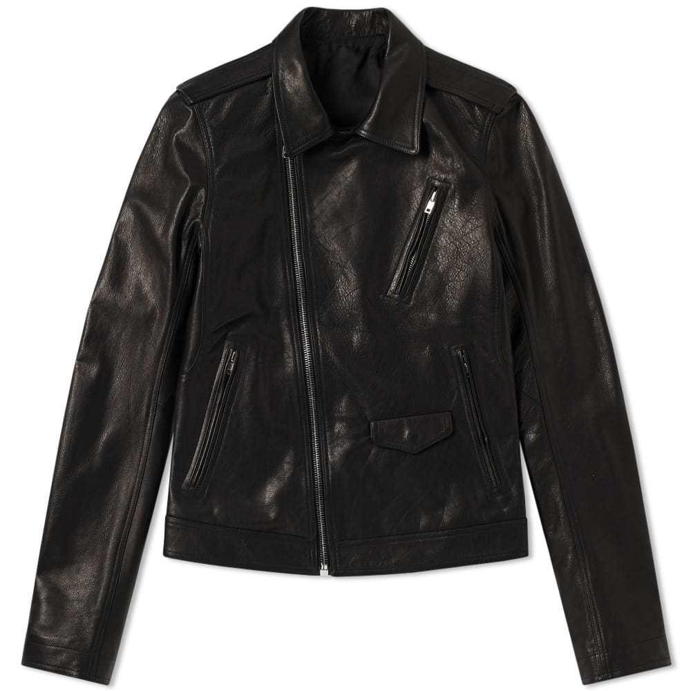 Photo: Rick Owens Stooges Leather Biker Jacket Black