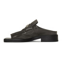 Martine Rose Grey Open Toe Loafers