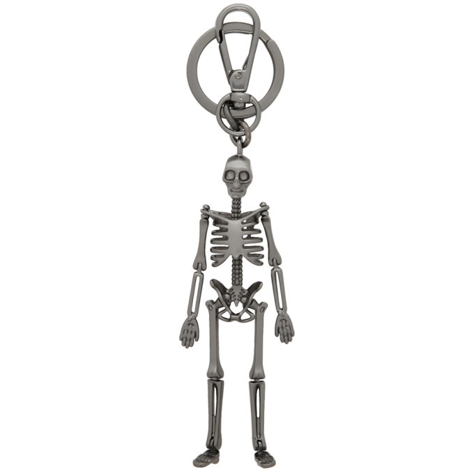 Photo: Alexander McQueen Gunmetal Skeleton Keychain