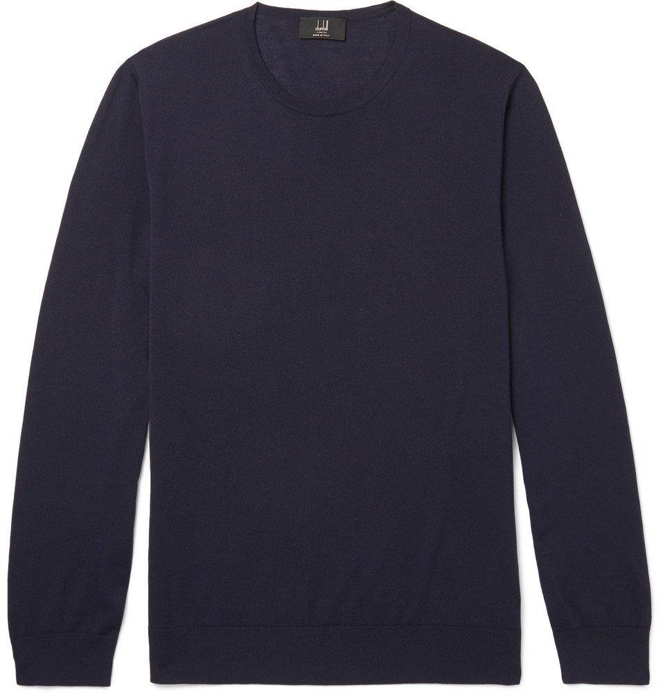Dunhill - Merino Wool Sweater - Men - Navy