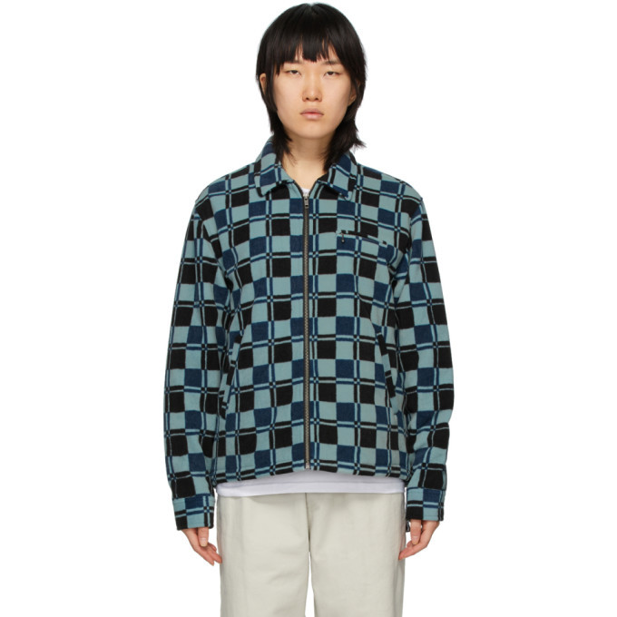 Photo: Stussy Blue Polar Fleece Brent Jacket