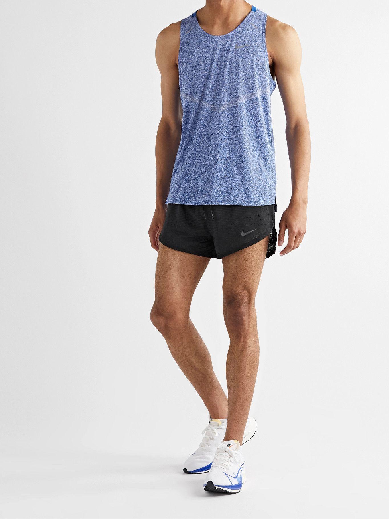 NIKE RUNNING - Pinnacle Run Division Slim-Fit Perforated Dri-FIT Shorts - Black