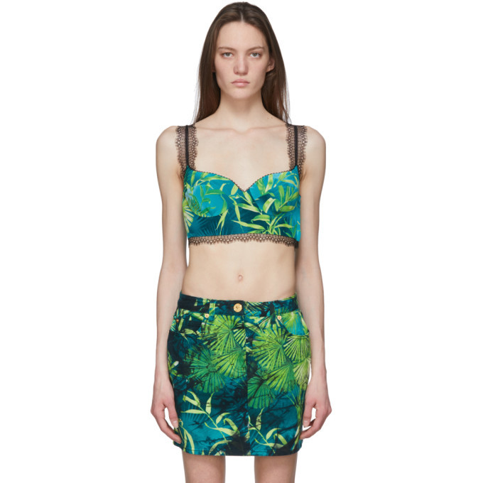 Photo: Versace Green Jungle Print Bralette