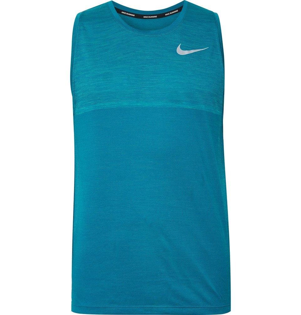 Nike Running - Medalist Mélange Dri-FIT Tank - Men - Azure