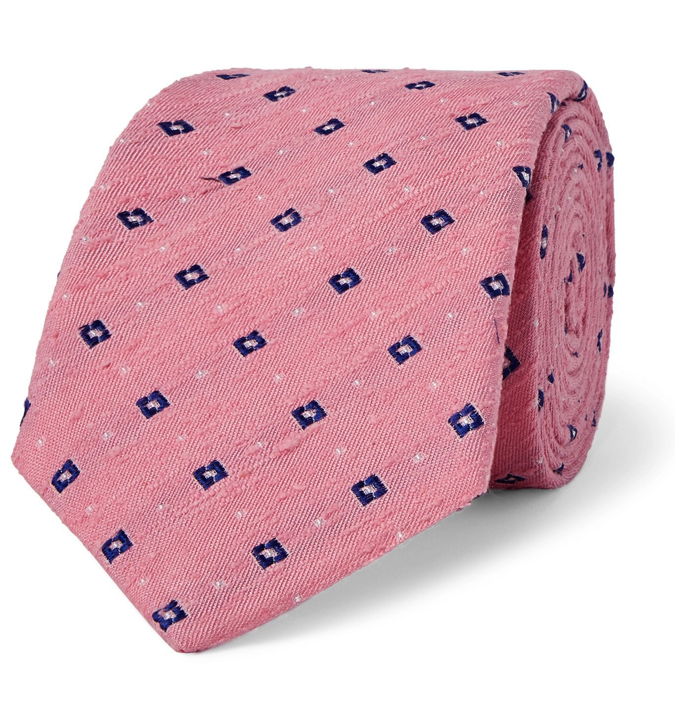 Photo: Turnbull & Asser - 8cm Slub Silk-Jacquard Tie - Pink