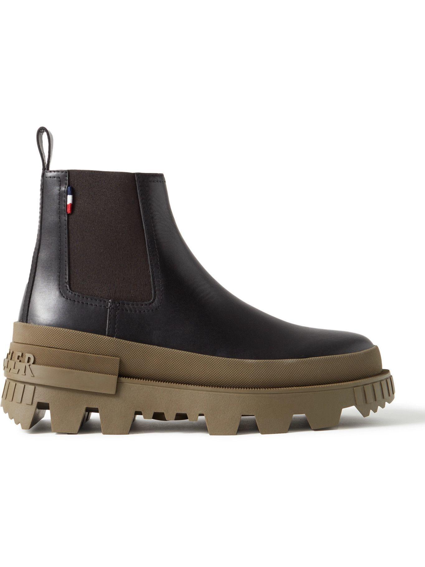 Photo: Moncler - Lir Leather Chelsea Boots - Black