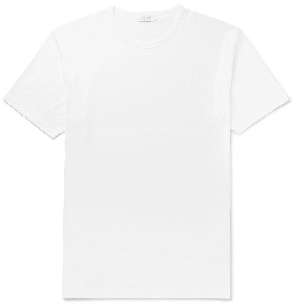 Sunspel - Cotton-Jersey T-Shirt - Men - White