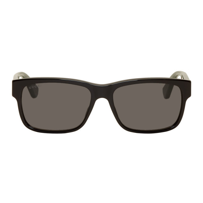Photo: Gucci Black Striped Temples Sunglasses