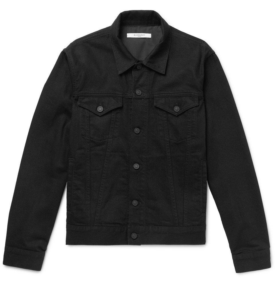 Photo: Givenchy - Slim-Fit Logo-Embroidered Denim Jacket - Black