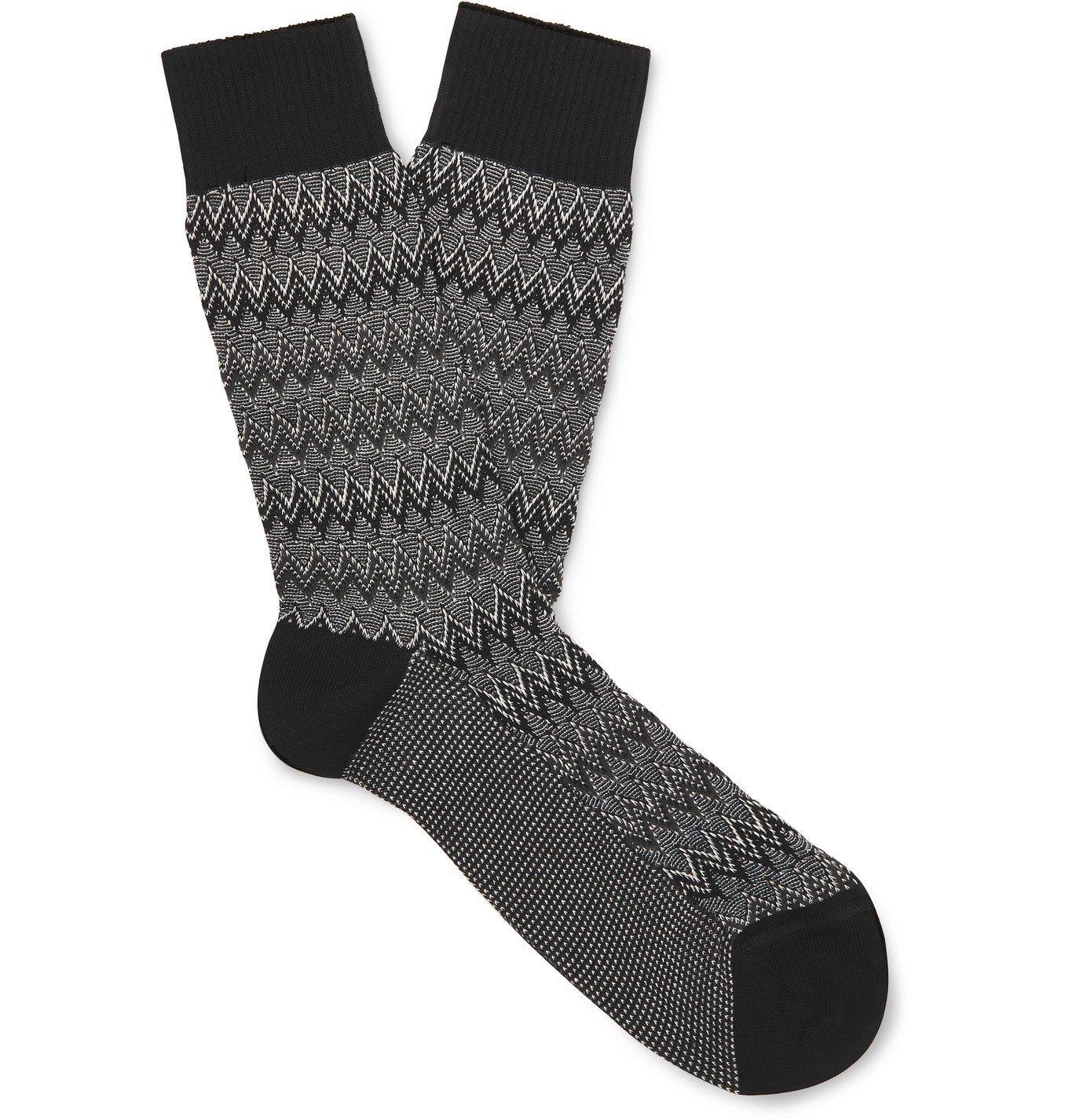 Photo: Missoni - Crochet-Knit Cotton-Blend Socks - Black