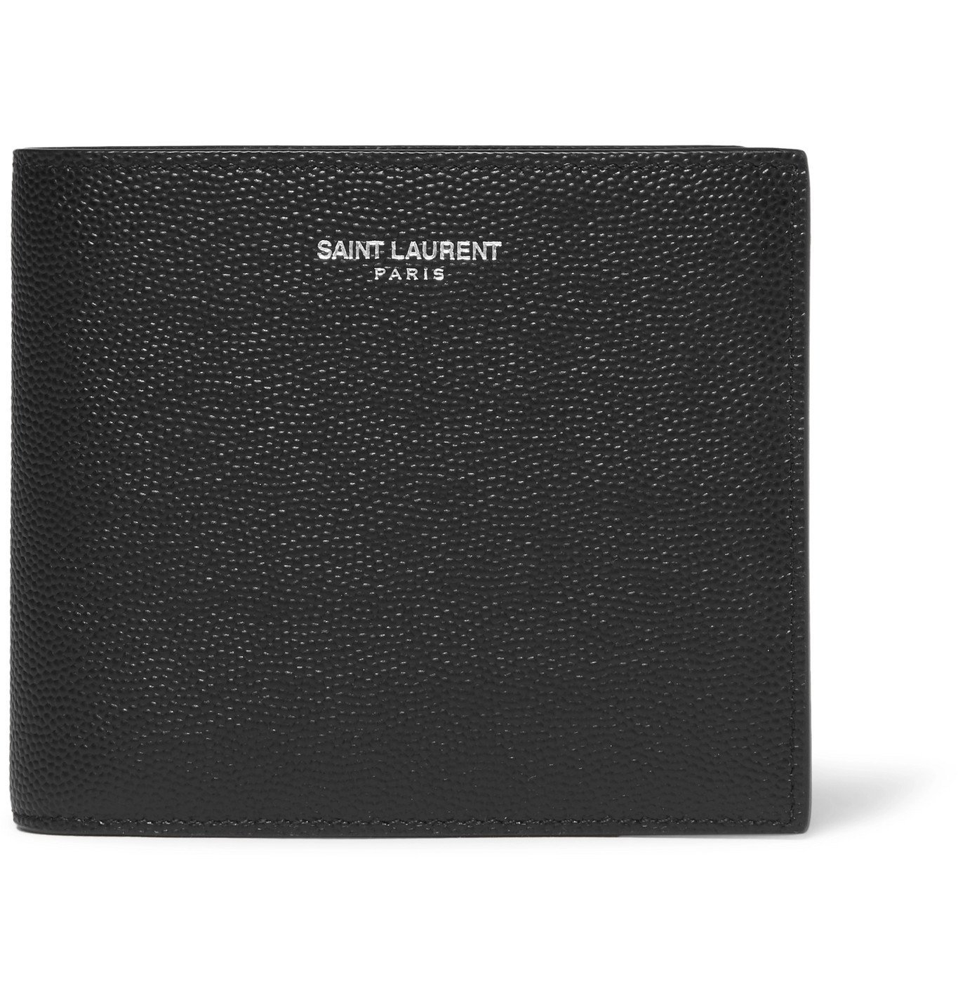 Photo: SAINT LAURENT - Pebble-Grain Leather Billfold Wallet - Black