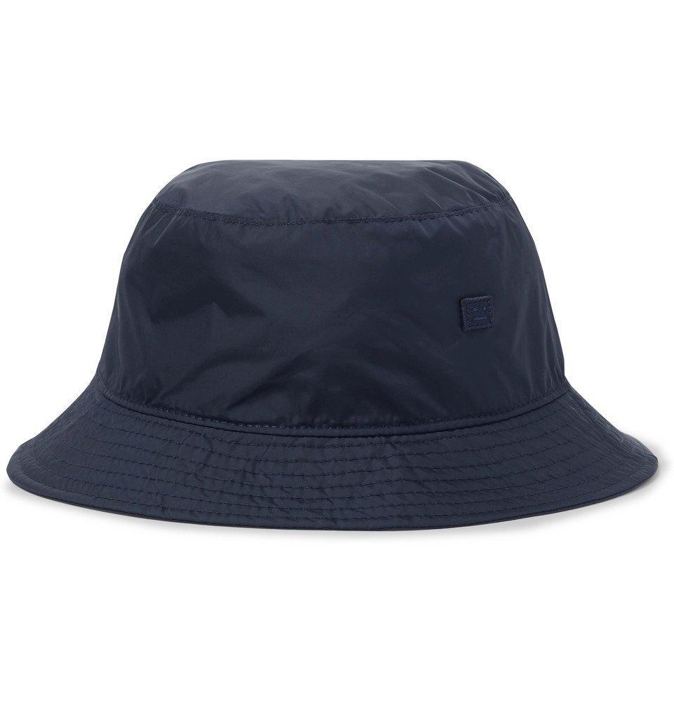 07b7275414e Photo  Acne Studios - Logo-Appliquéd Nylon Bucket Hat - Men - Midnight blue