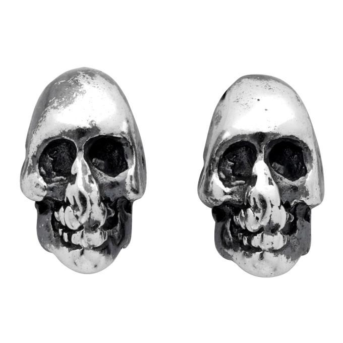 Photo: Chin Teo Silver Skull Earrings