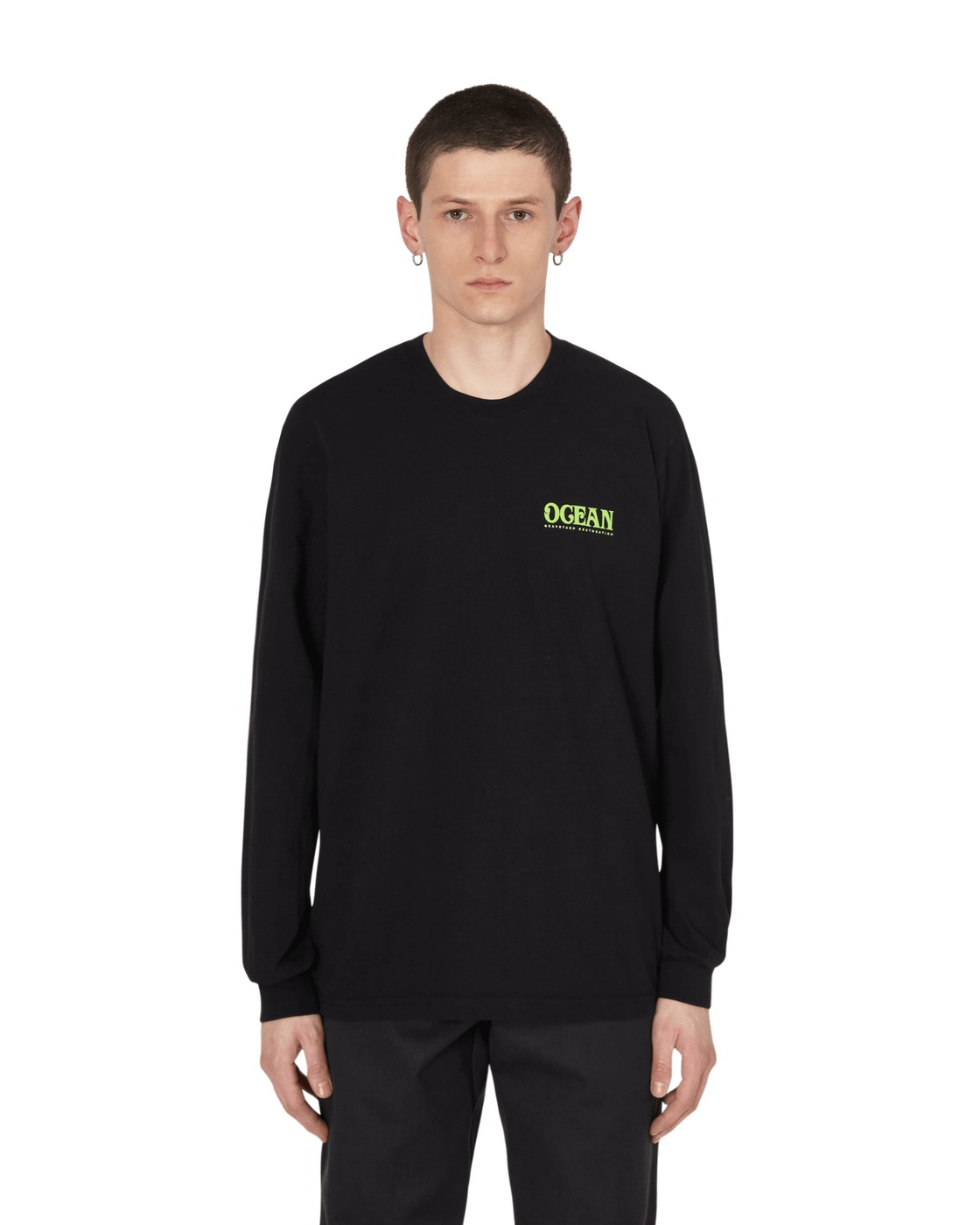 Eden Power Corp Ocean Recycled Longsleeve T Shirt Black