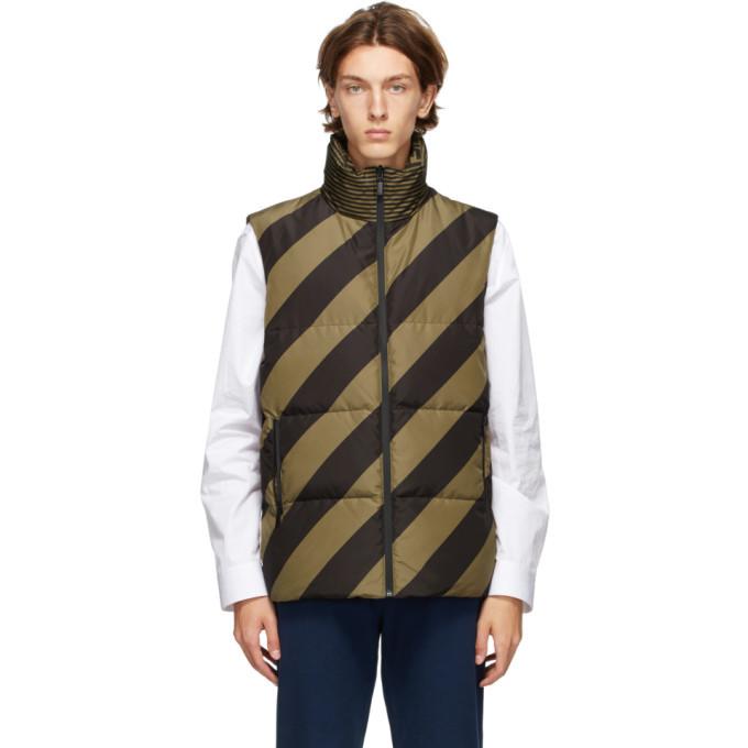 Photo: Fendi Reversible Tan and Black Down Forever Fendi Puffer Vest