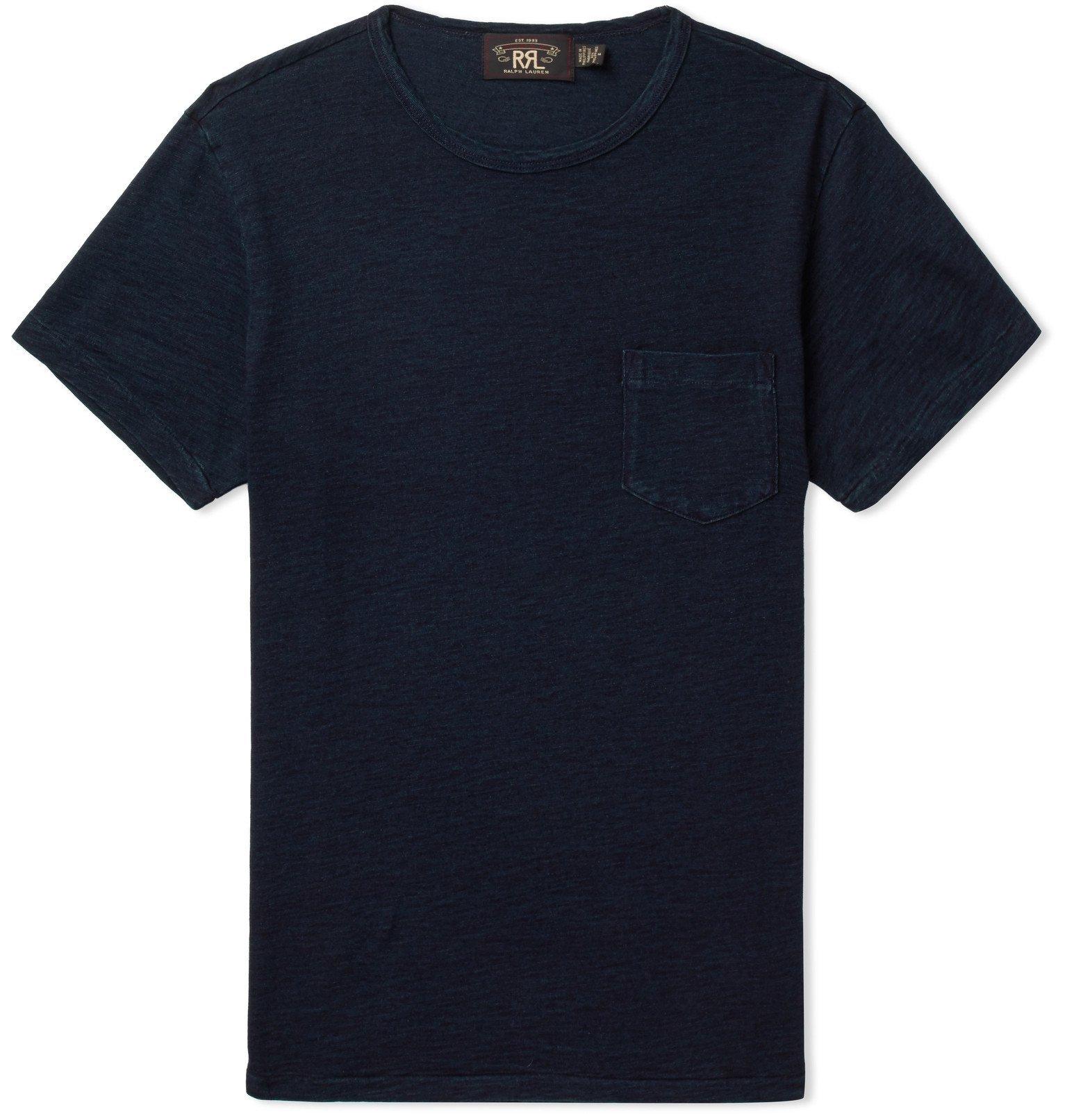 RRL - Indigo-Dyed Slub Cotton-Jersey T-Shirt - Blue