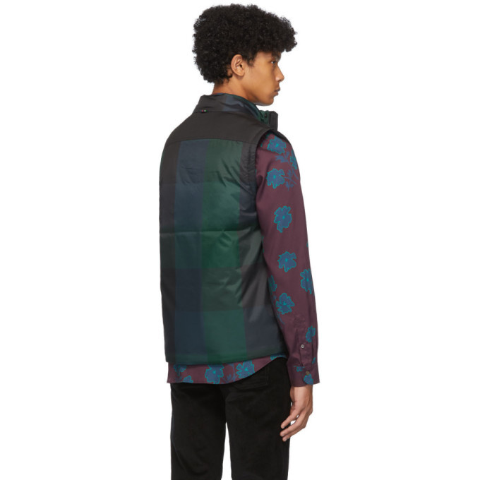 PS by Paul Smith Green and Navy Tartan Vest
