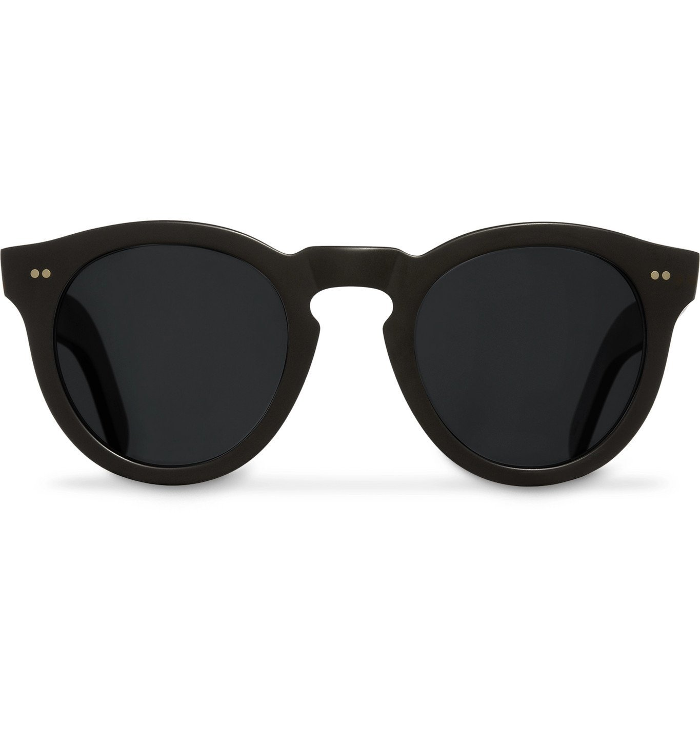 Photo: Cutler and Gross - Round-Frame Acetate Sunglasses - Beige