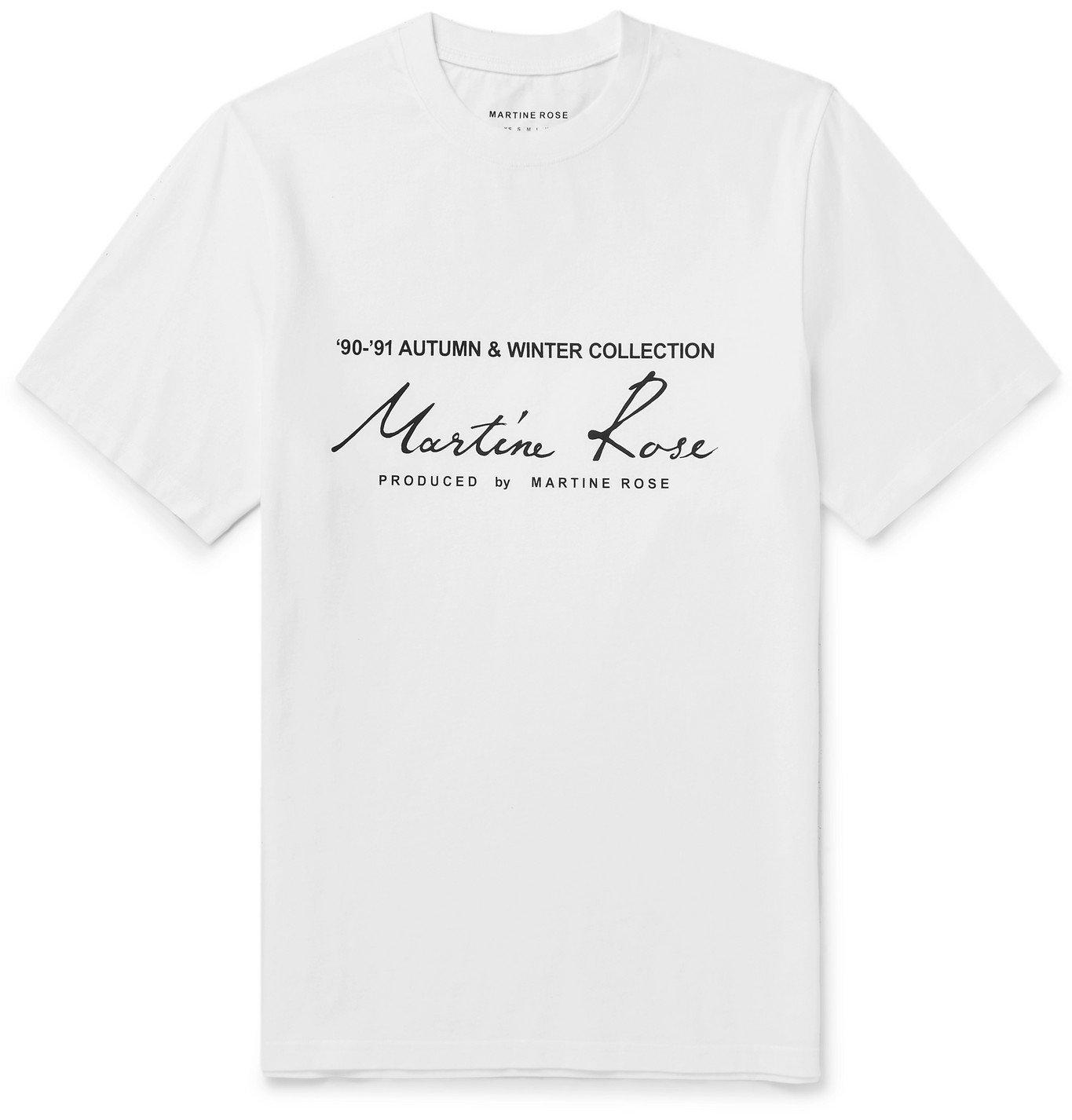 Photo: Martine Rose - Printed Cotton-Jersey T-Shirt - White