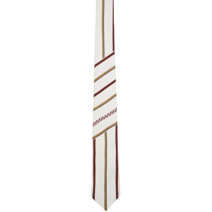 Photo: Fendi White Forever Fendi Stripe Tie