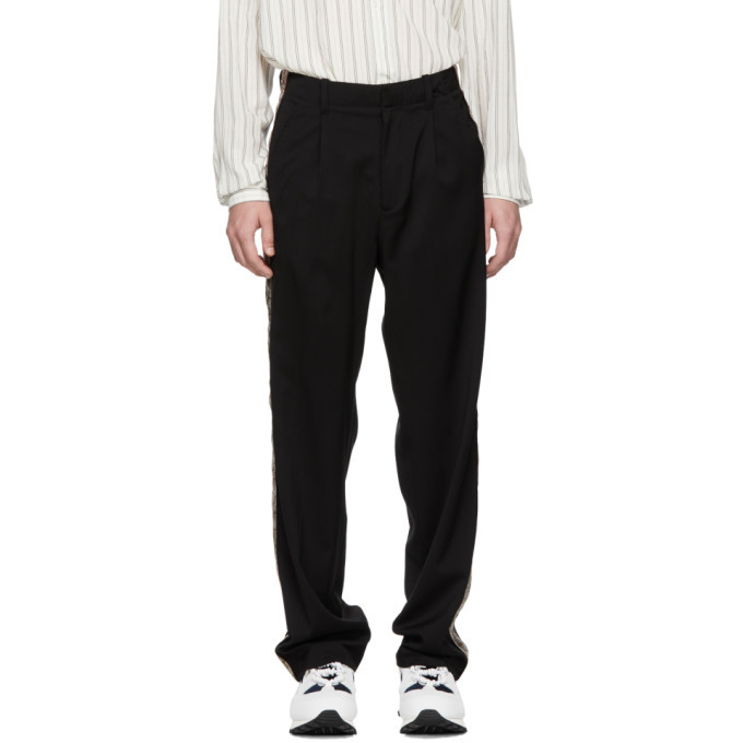 Photo: Our Legacy Black Sidetaped Pleated Trousers