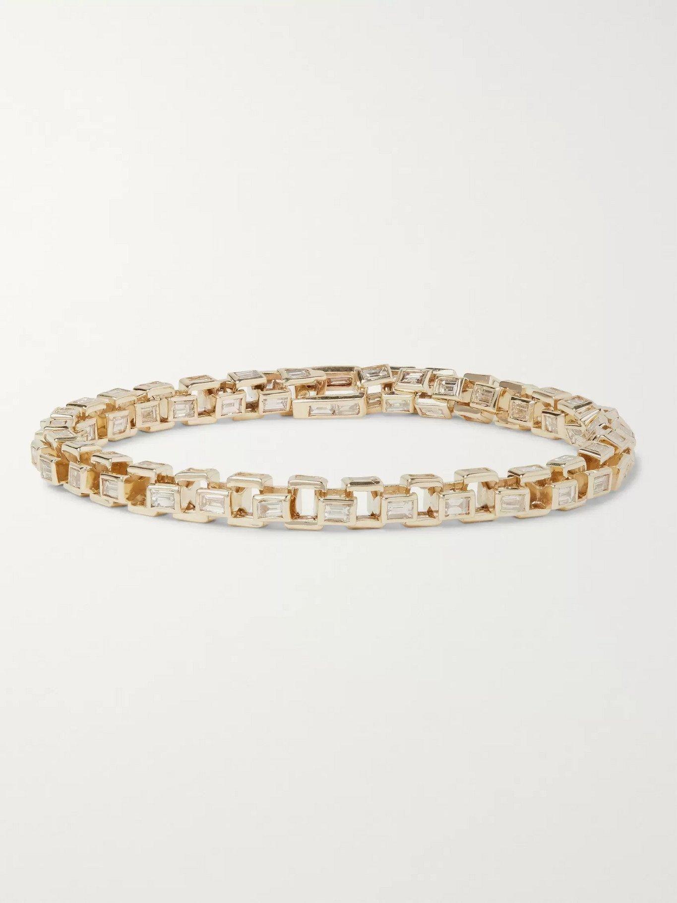 Photo: LUIS MORAIS - Gold Diamond Link Bracelet - Gold