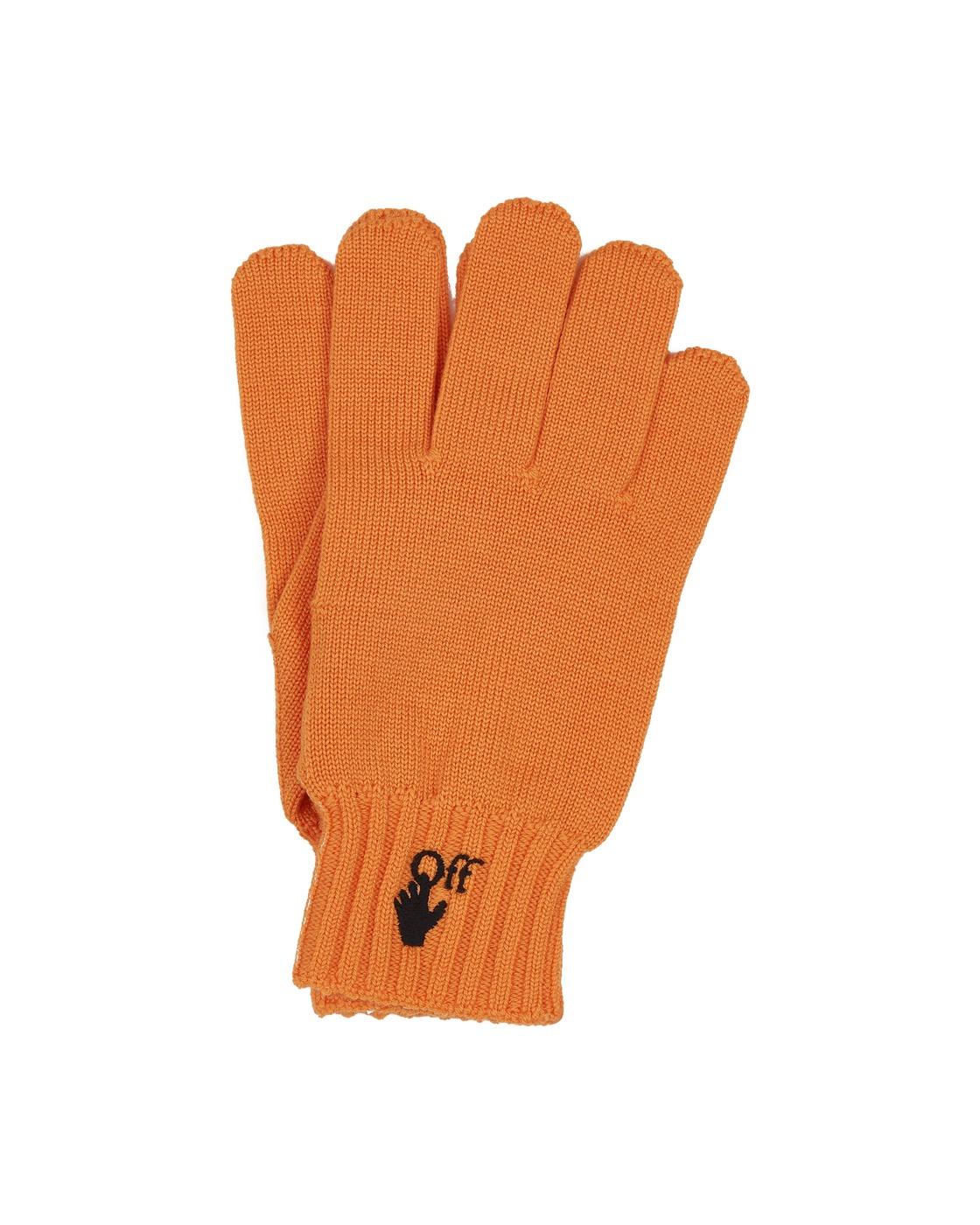 Photo: Off White Hand Off Wool Gloves Bright Marigold Bla