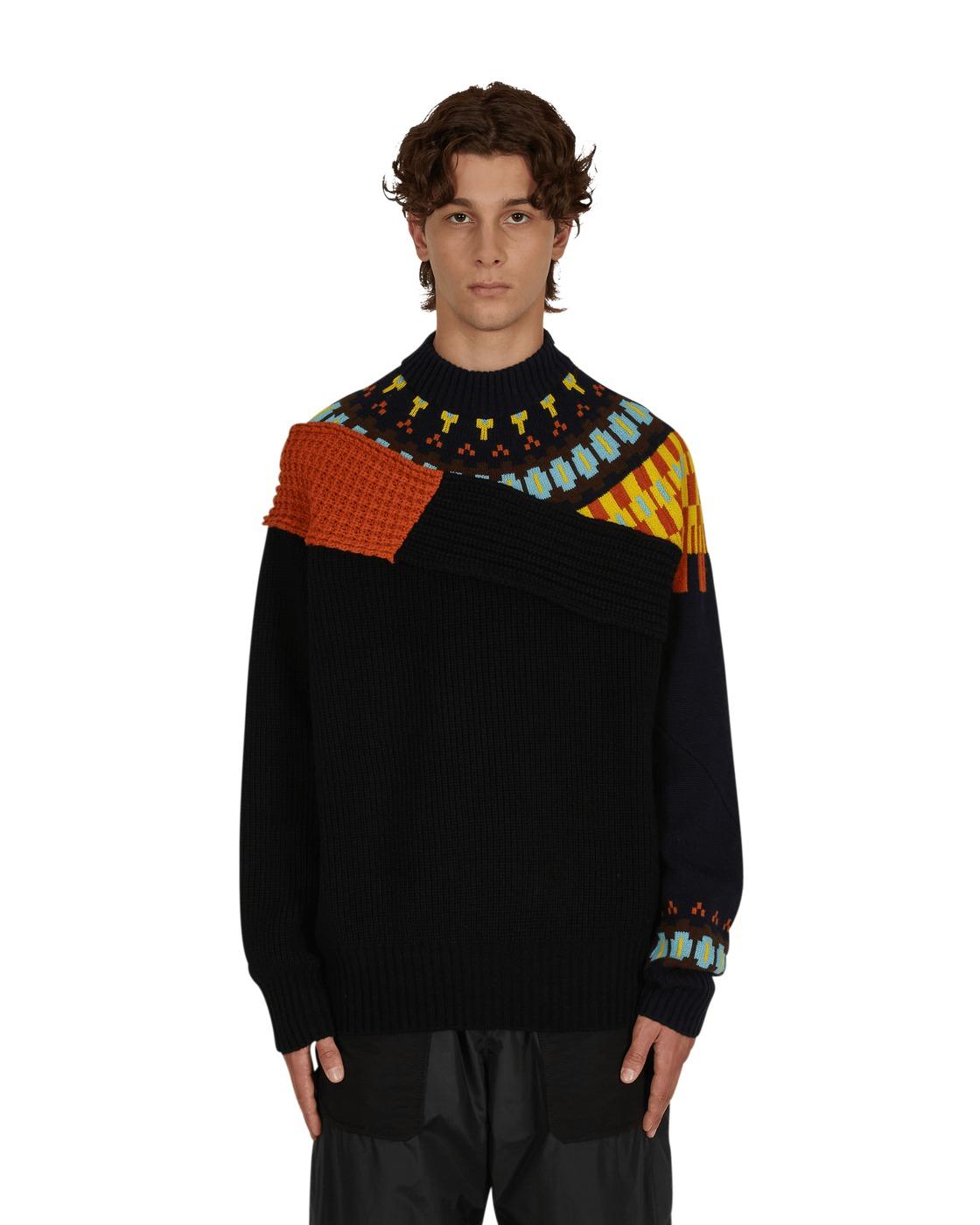 Sacai Wool Sweater Navy Orange