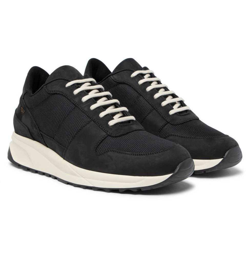 Common Projects - Track Vintage Nubuck and Mesh Sneakers - Men - Black