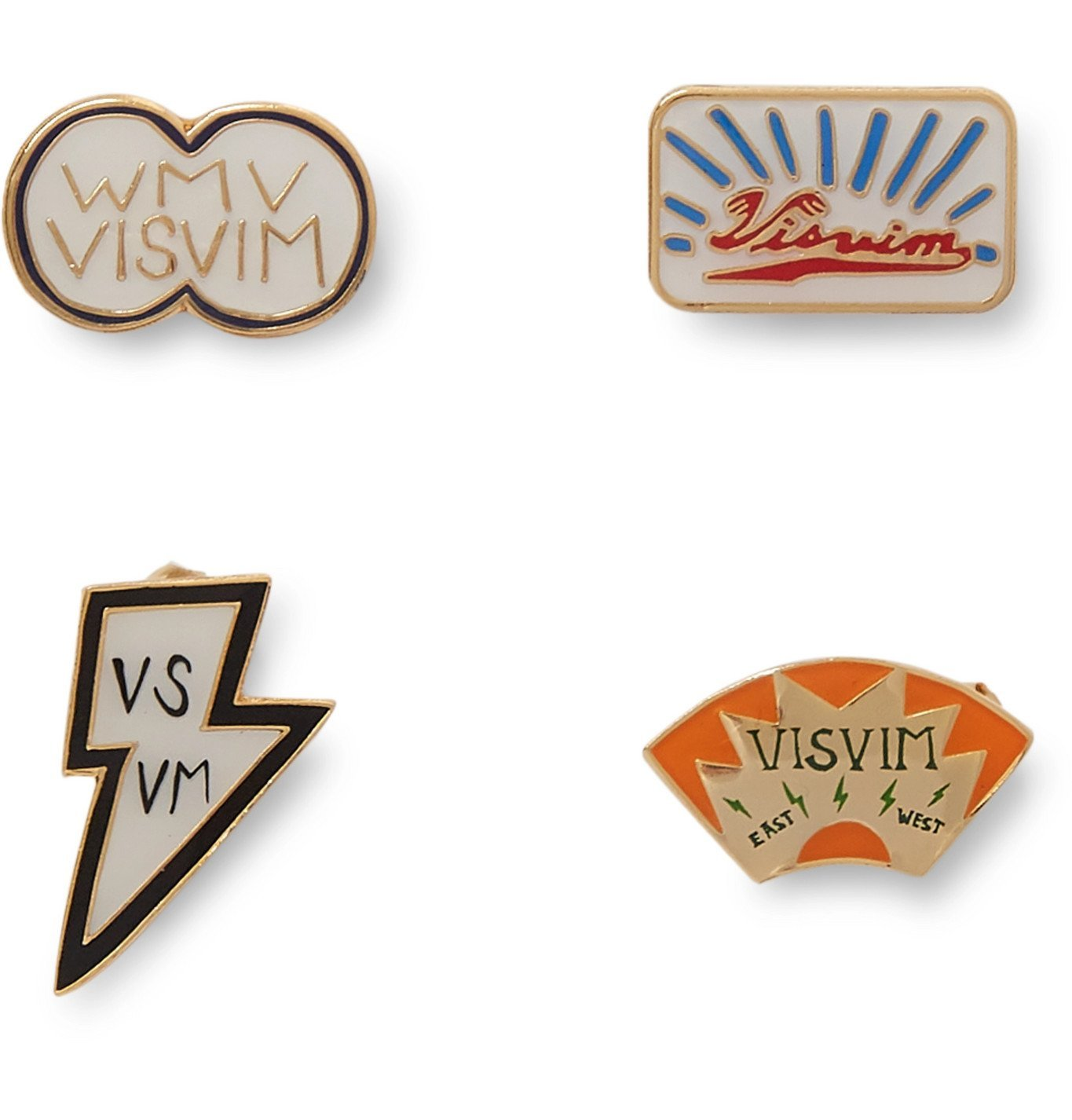 Photo: visvim - Set of Four Enamel Pin Set - Multi