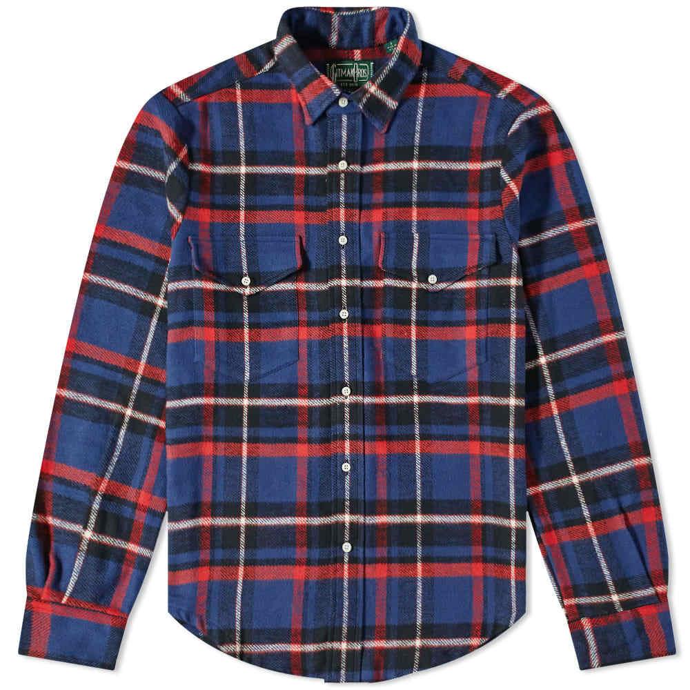 Photo: Gitman Vintage 2 Pocket Rough Check Flannel Overshirt - End. Exclusive