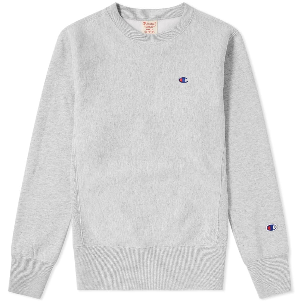 067c3af0f Champion Reverse Weave Classic Fleece Lined Crew Sweat Grey Champion ...