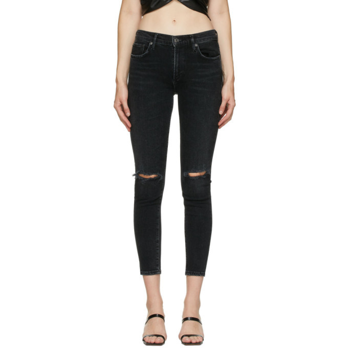 Photo: AGOLDE Black Sophie Mid-Rise Ankle Jeans
