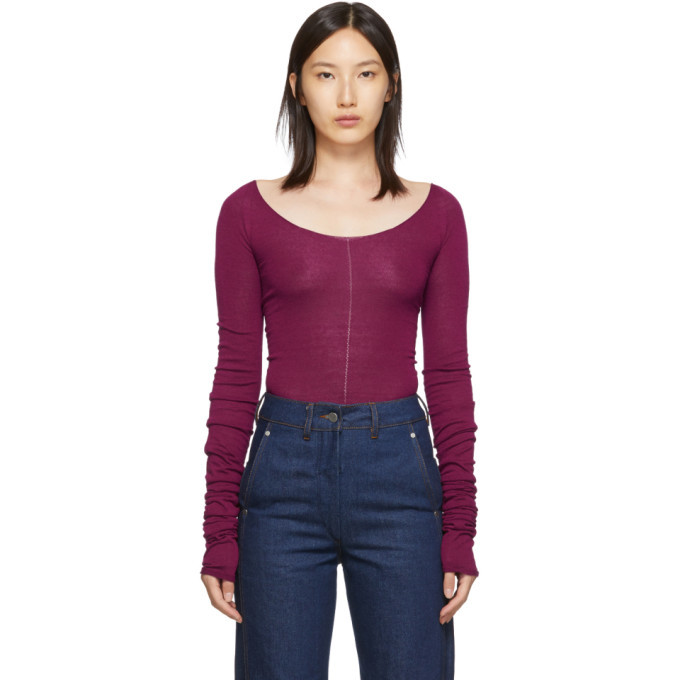 Photo: Lemaire Pink Bare Shoulder Second Skin Sweater