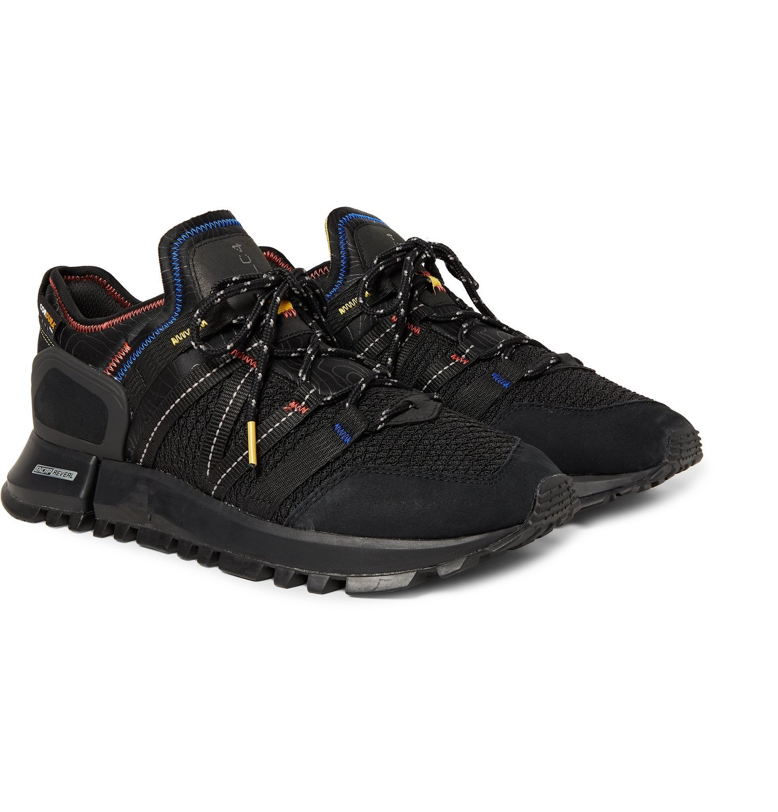 Photo: New Balance - R_C4 Webbing and Nubuck-Trimmed CORDURA Tracefiber and Mesh Sneakers - Black
