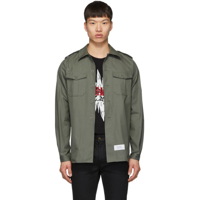 Photo: Givenchy Green Military Over Shirt