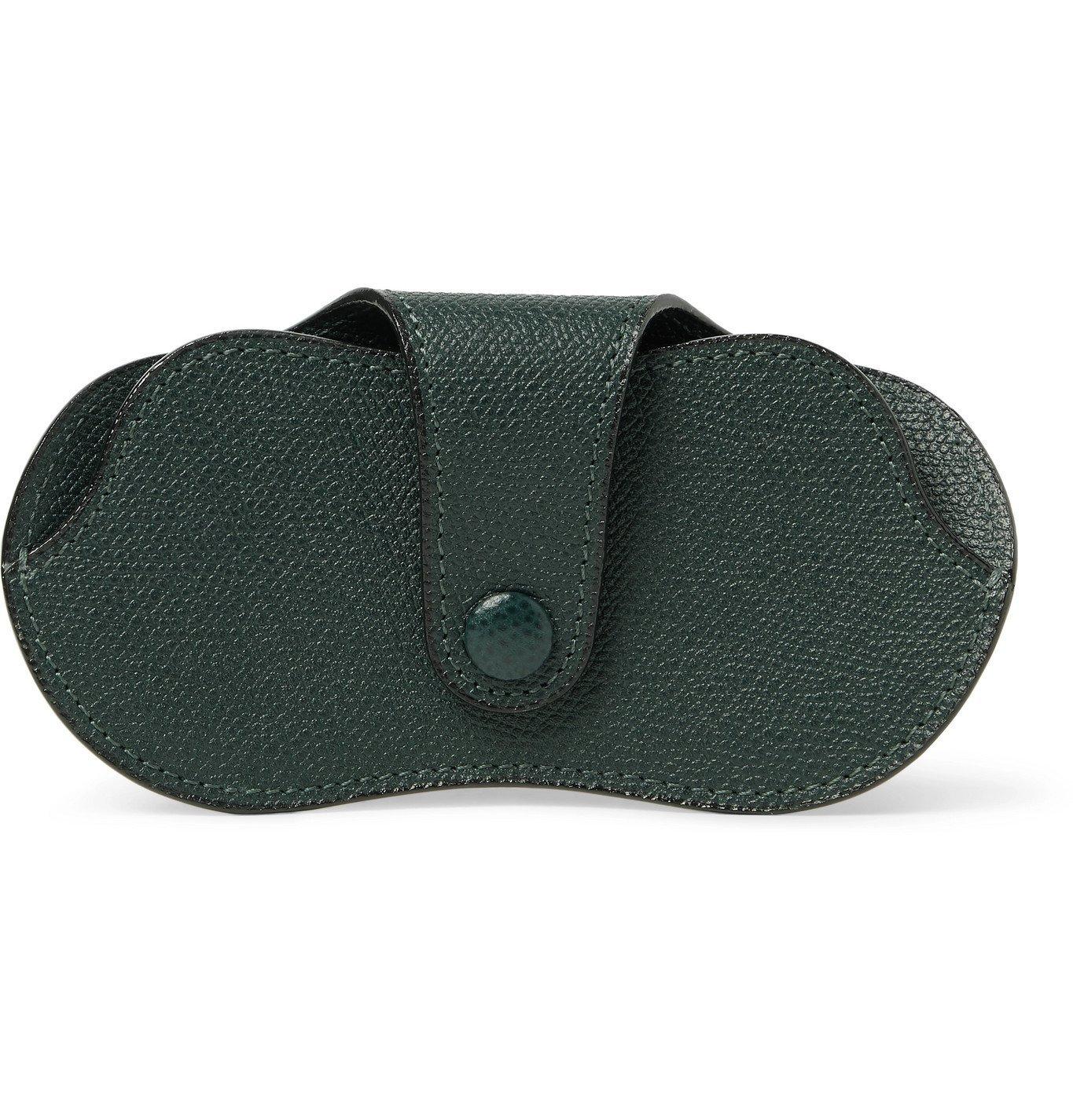 Photo: Valextra - Pebble-Grain Leather Sunglasses Case - Green