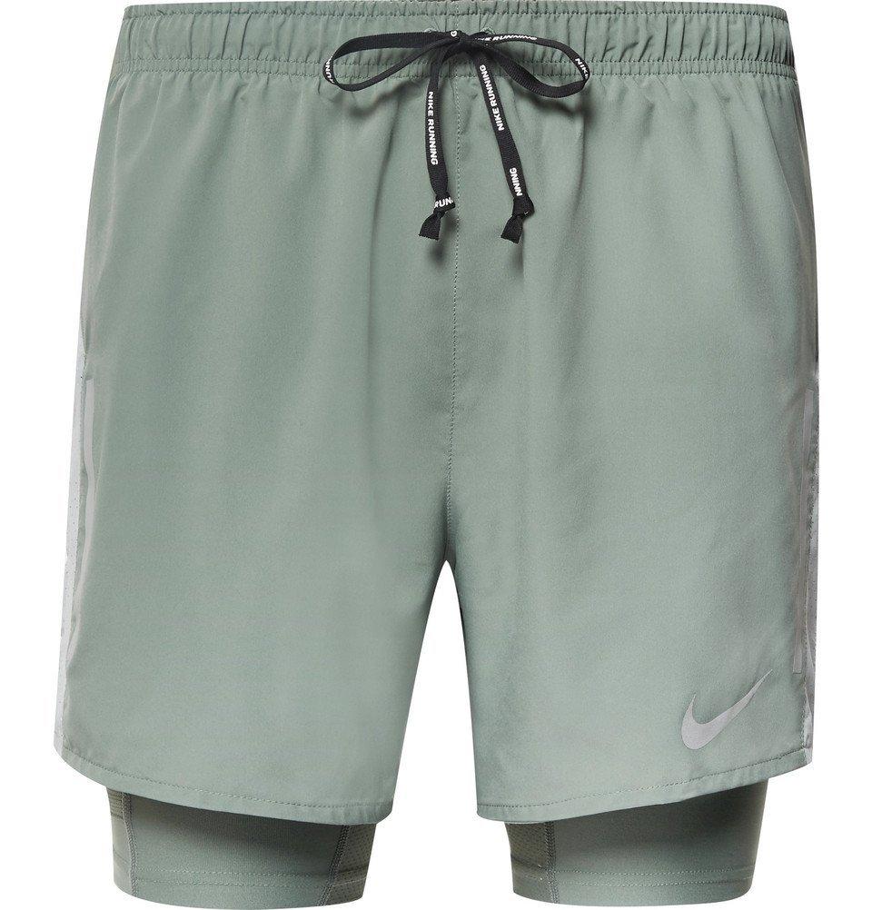 Nike Running - Flex Distance 2-in-1 Dri-FIT Shorts - Men - Green
