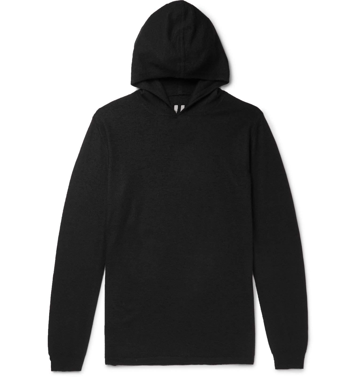 Photo: Rick Owens - Slim-Fit Boiled Cashmere Hoodie - Black