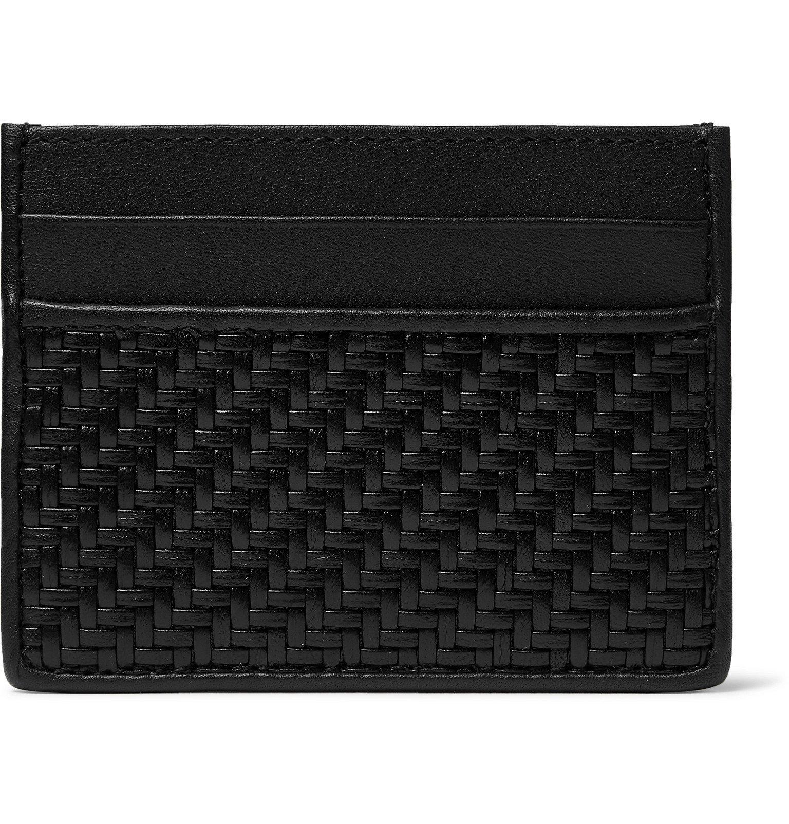 Photo: Ermenegildo Zegna - Pelle Tessuta Leather Cardholder - Black