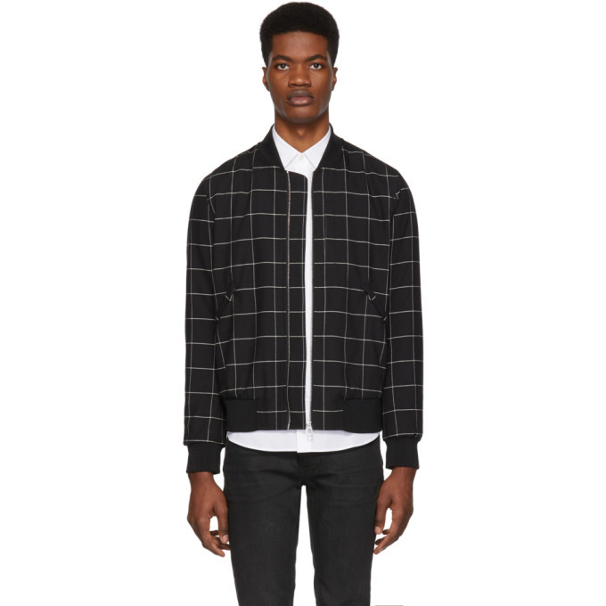 Photo: PS by Paul Smith Black Wool Bomber Jacket
