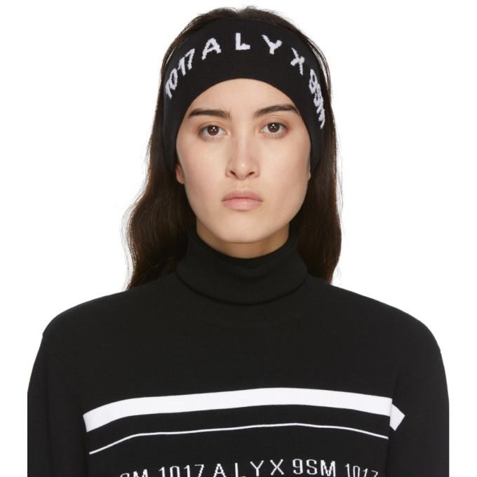 1017 ALYX 9SM Black Logo Headband